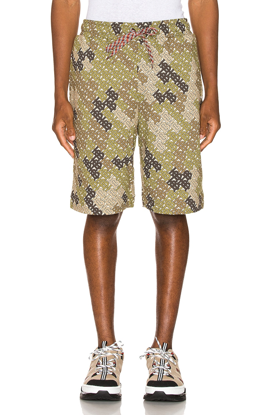 Image 1 of Burberry Camile Shorts in Khaki Green