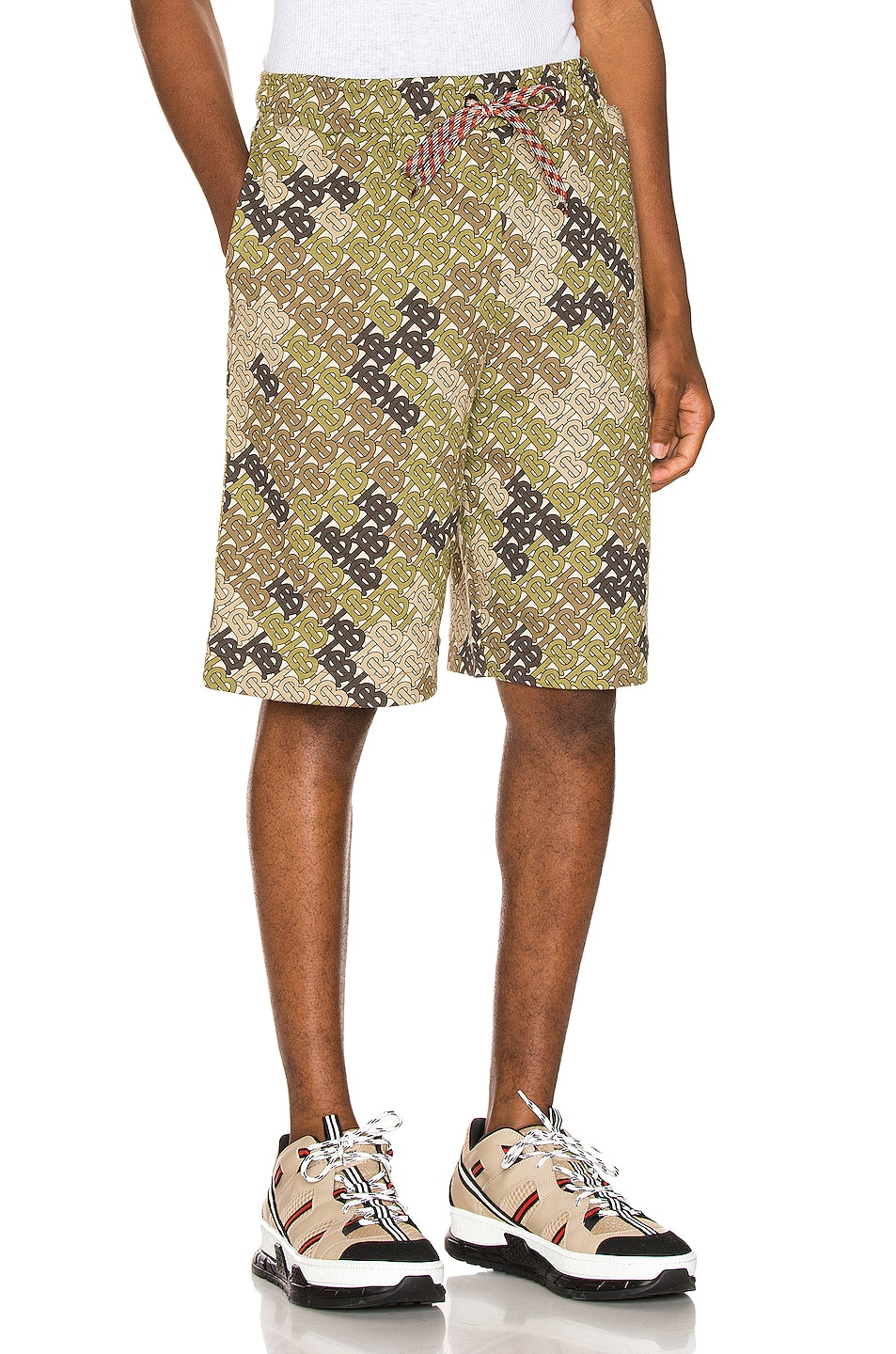 Image 2 of Burberry Camile Shorts in Khaki Green