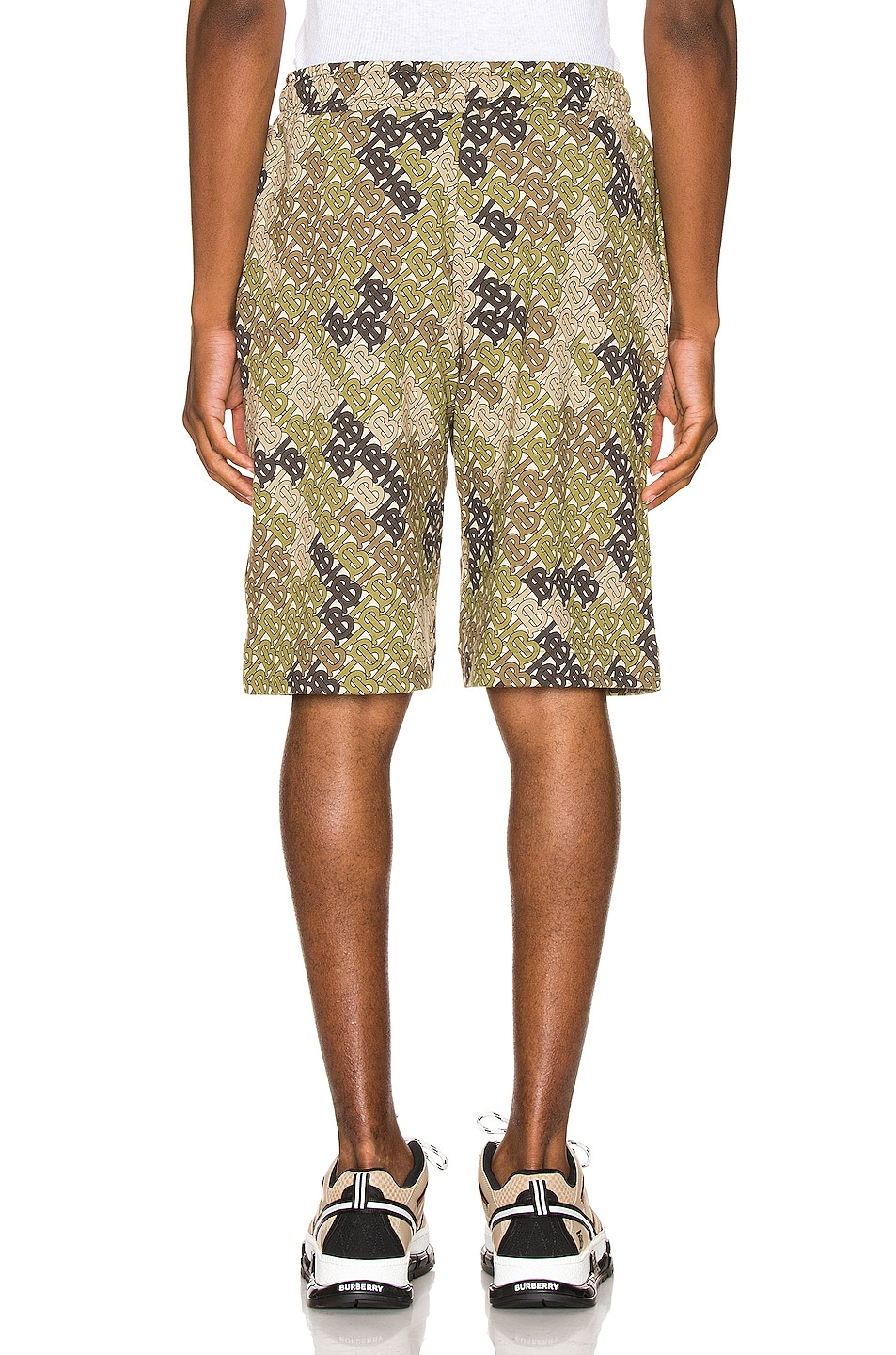 Image 3 of Burberry Camile Shorts in Khaki Green