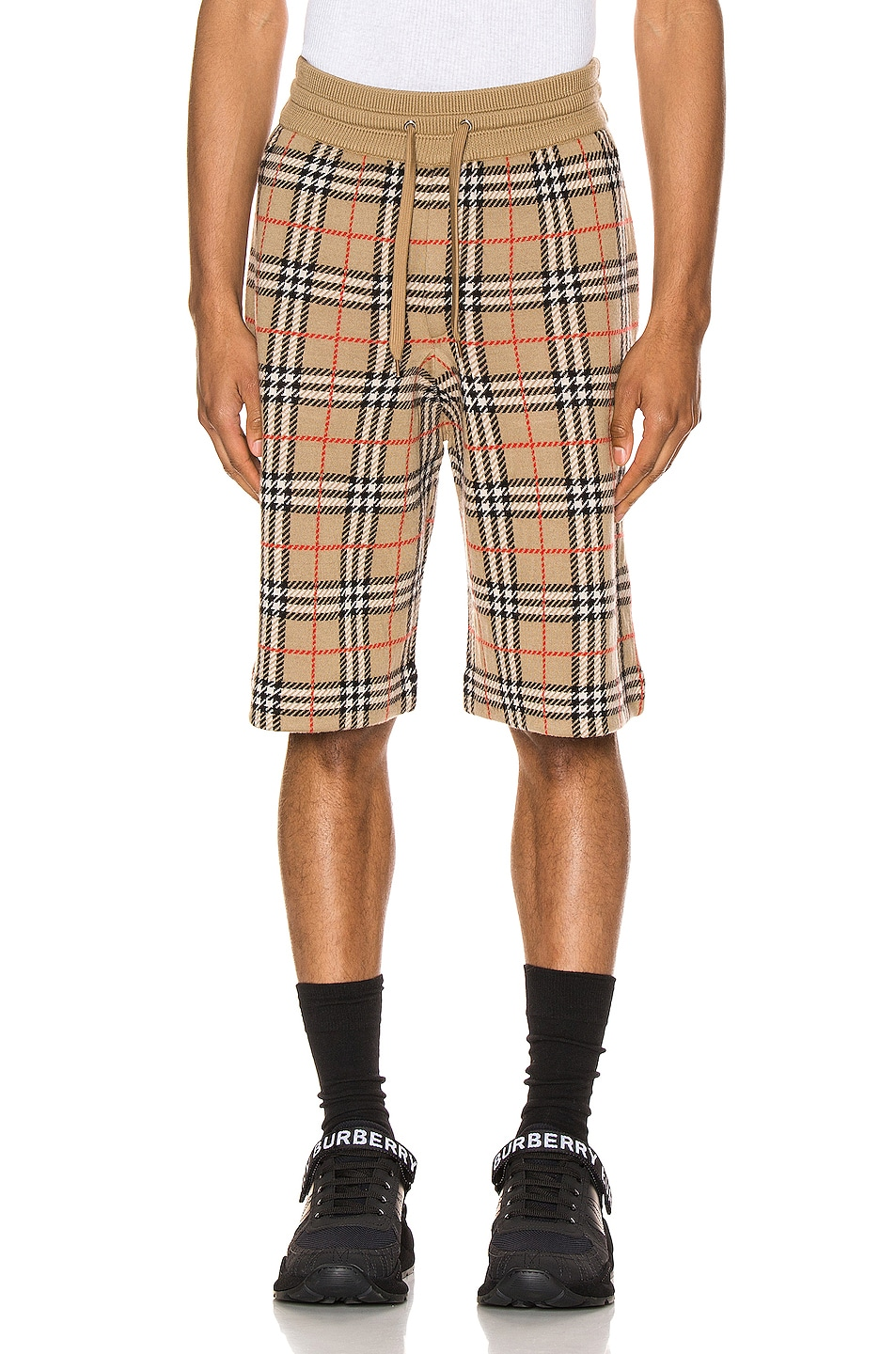 Image 1 of Burberry Casual Shorts in Archive Beige