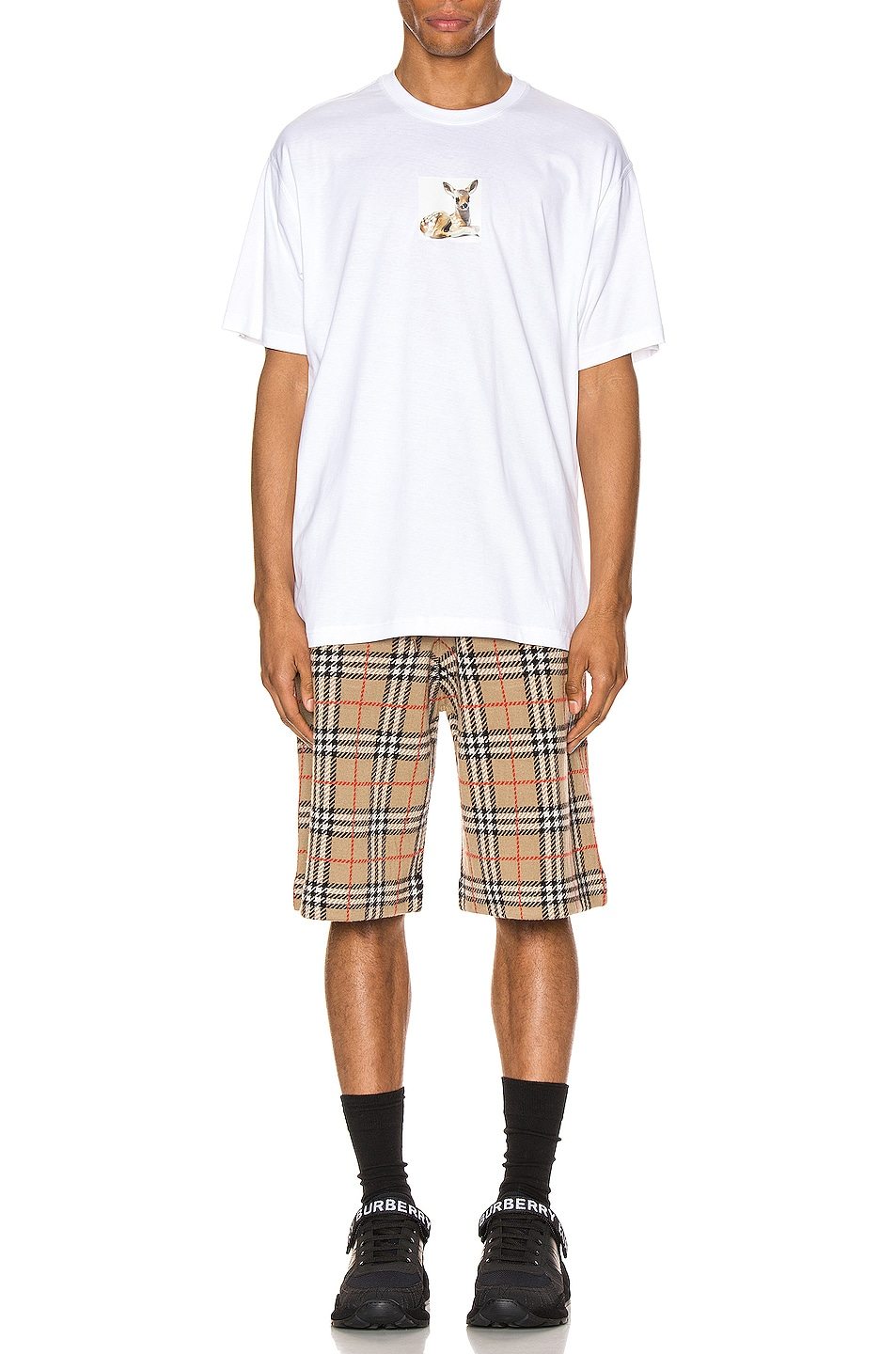 Image 4 of Burberry Casual Shorts in Archive Beige