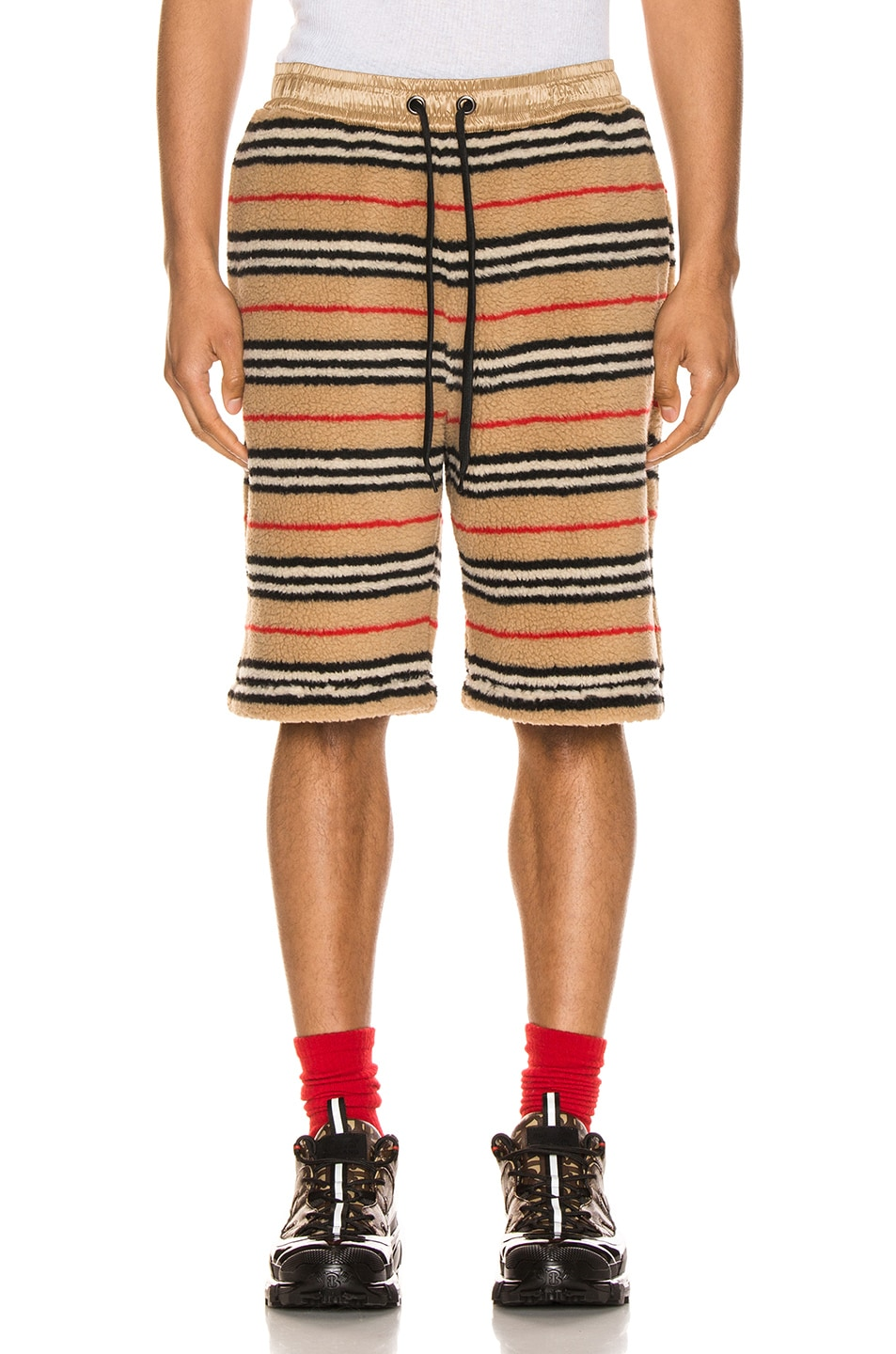Image 1 of Burberry Holwell Shorts in Archive Beige