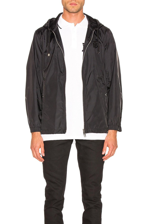 Image 1 of Burberry Nylon K-Way Hoodie in Black