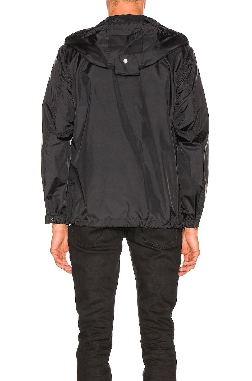 Image 4 of Burberry Nylon K-Way Hoodie in Black