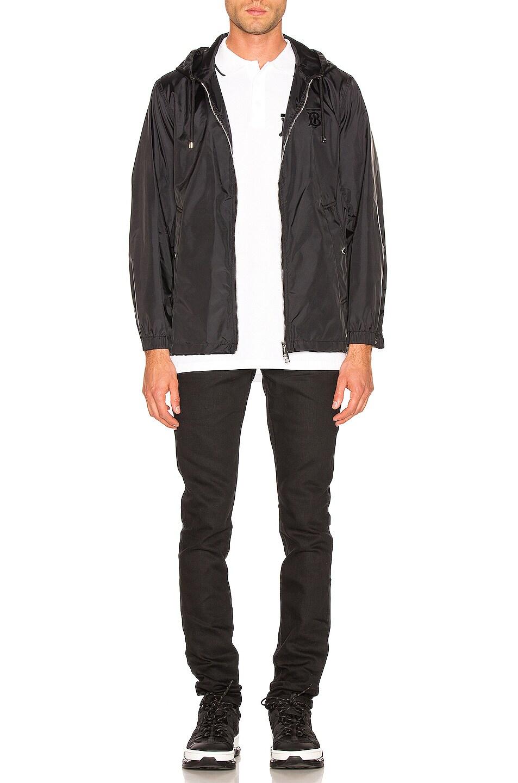 Image 5 of Burberry Nylon K-Way Hoodie in Black