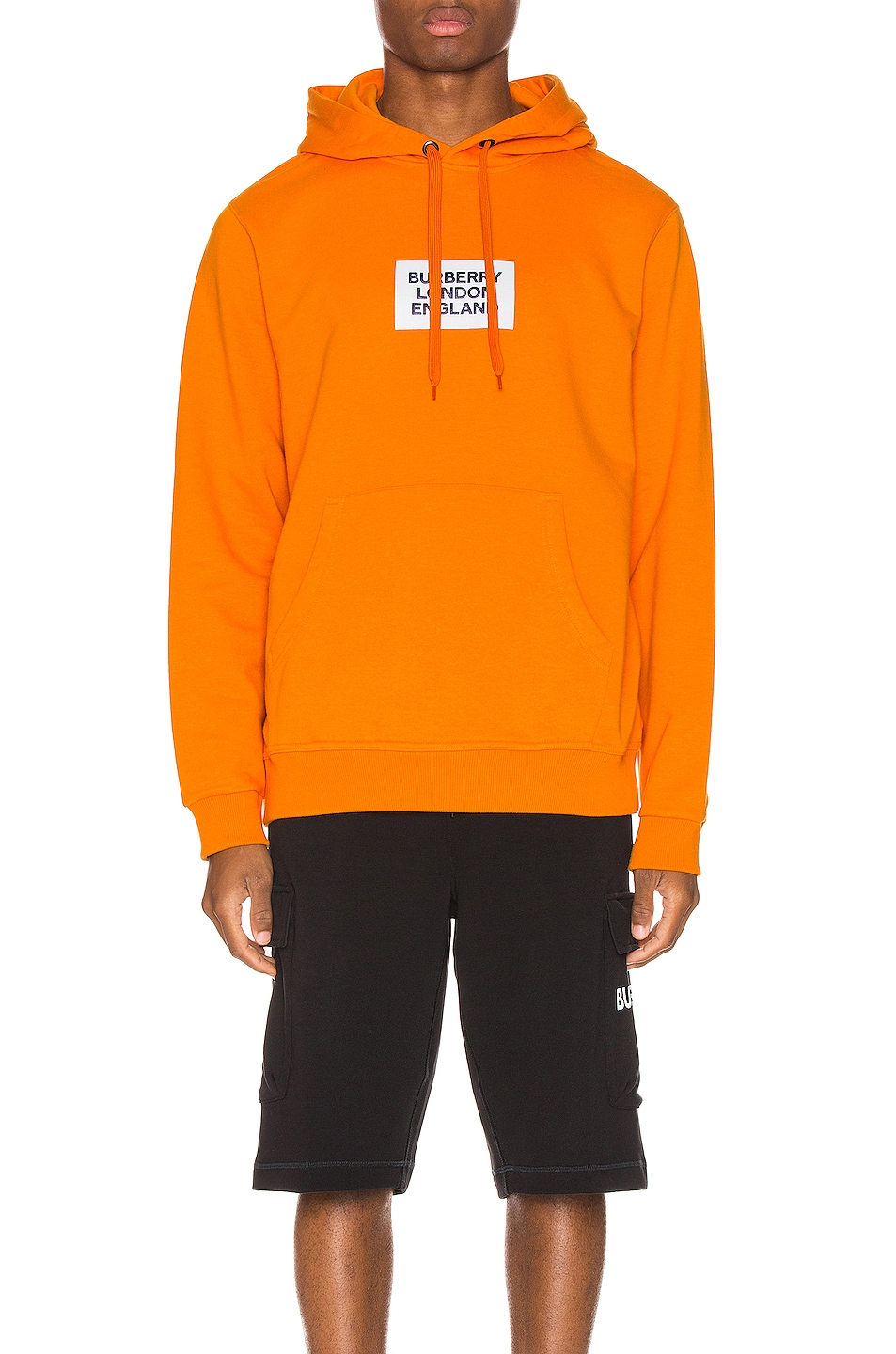 Image 2 of Burberry Farrows Hoodie in Bright Orange