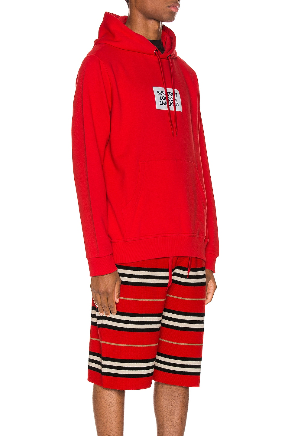Image 3 of Burberry Farrows Hoodie in Bright Red