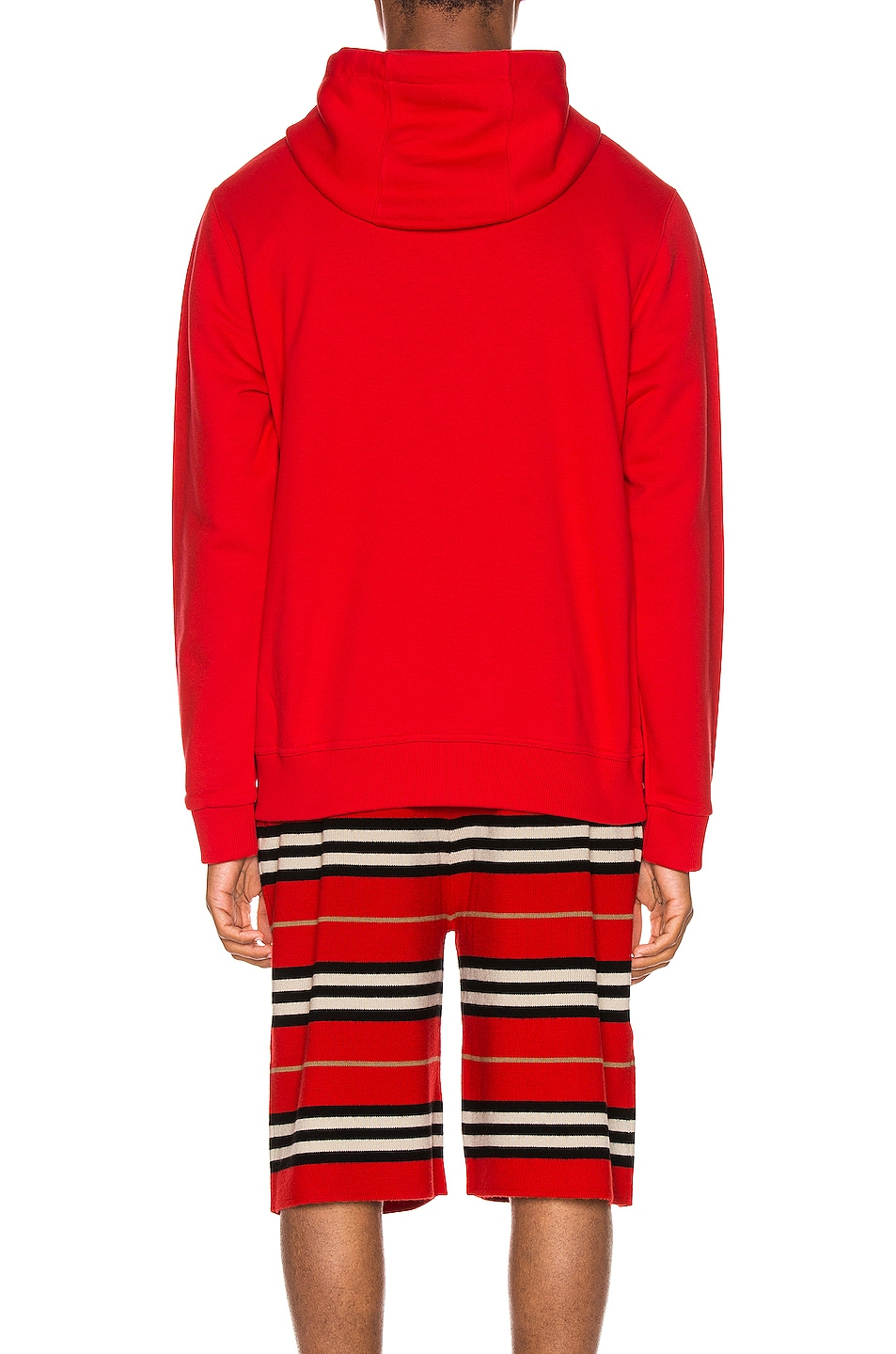 Image 4 of Burberry Farrows Hoodie in Bright Red