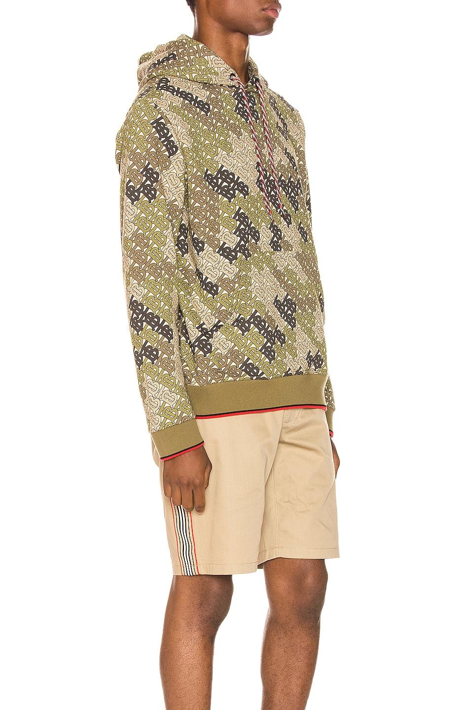 Image 2 of Burberry Casper Hoodie in Khaki Green
