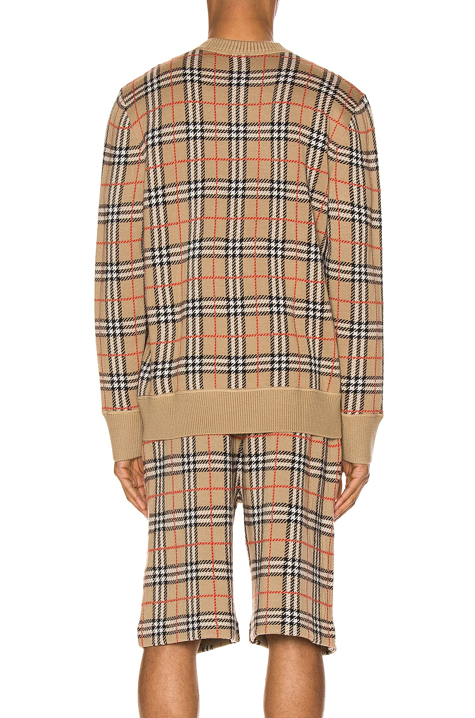 Image 3 of Burberry Knit Crew in Archive Beige