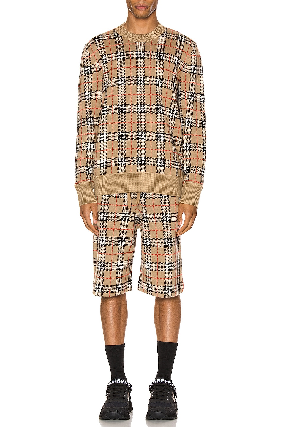Image 4 of Burberry Knit Crew in Archive Beige