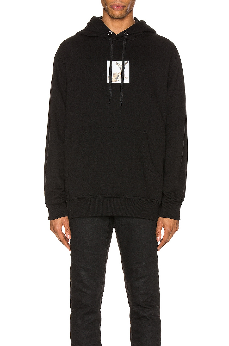 Image 1 of Burberry Junnes Deer Hoodie in Black