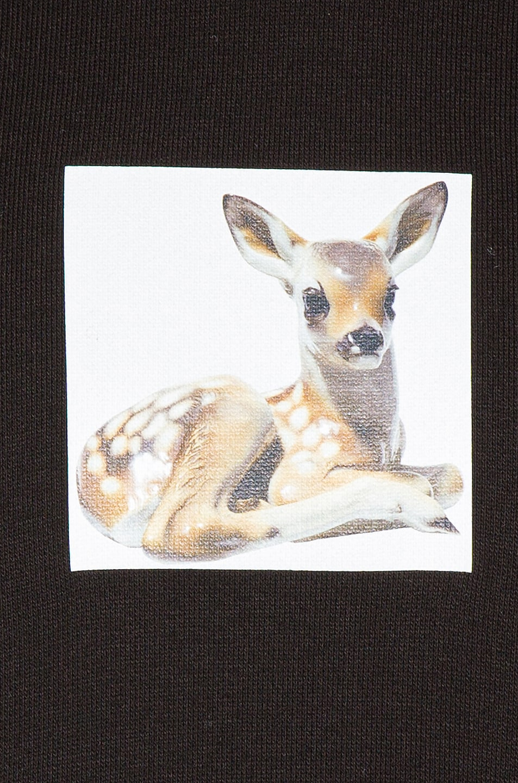 Image 5 of Burberry Junnes Deer Hoodie in Black