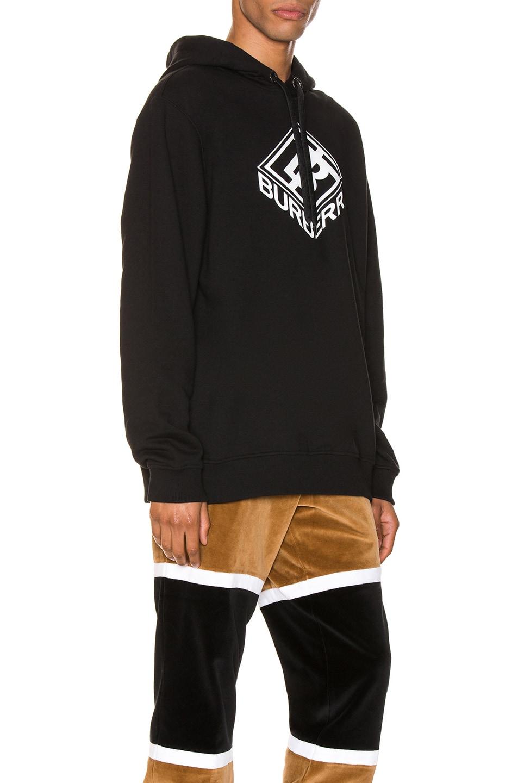 Image 2 of Burberry Logo Hoodie in Black