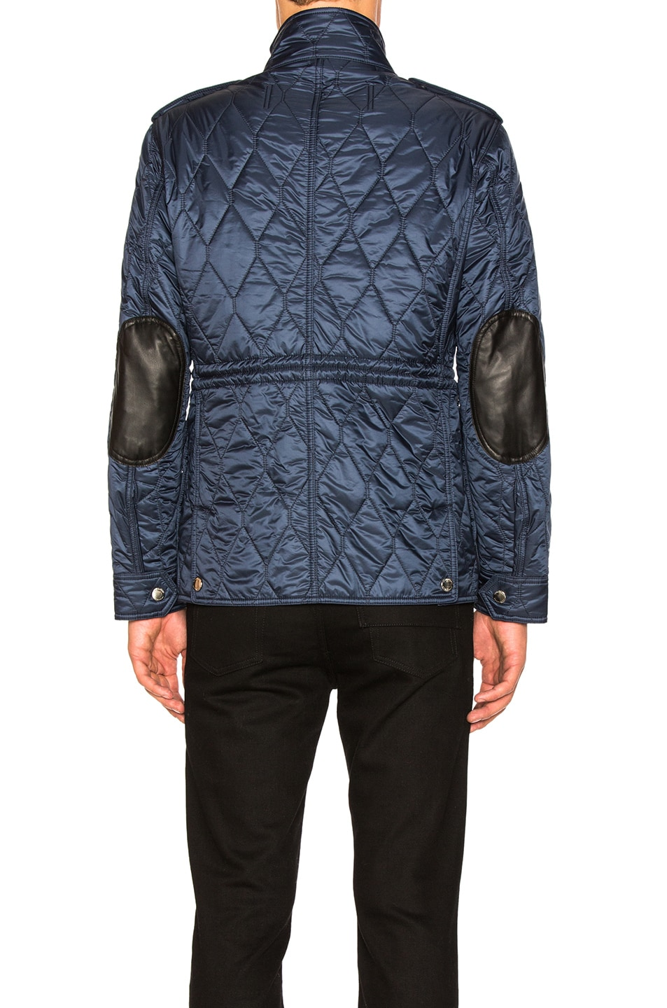 women blue normal quilt lyst burberry clothing in s quilted jackets gray diamond jacket product gallery slate