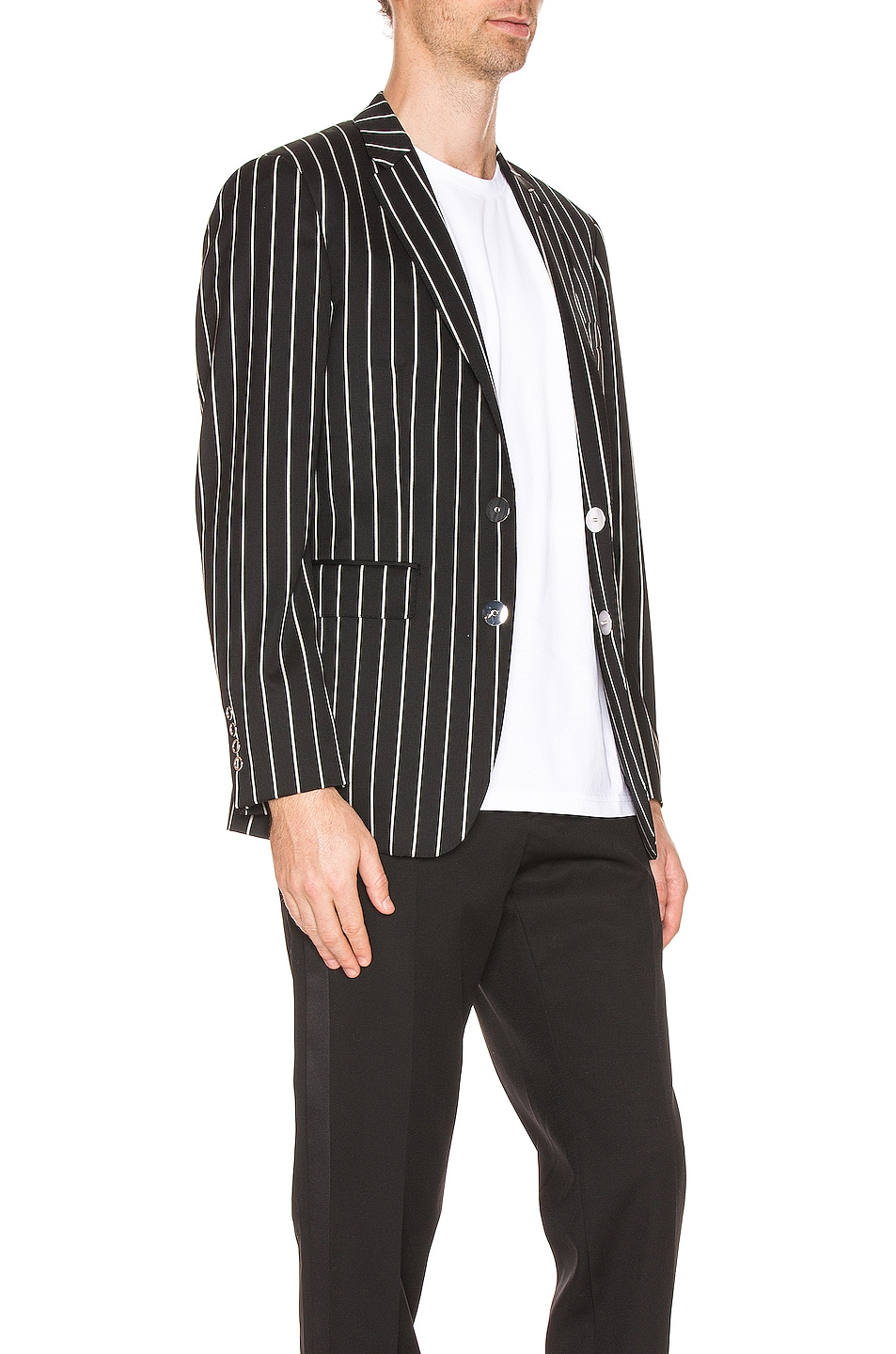 Image 3 of Burberry Slim Fit Blazer in Black