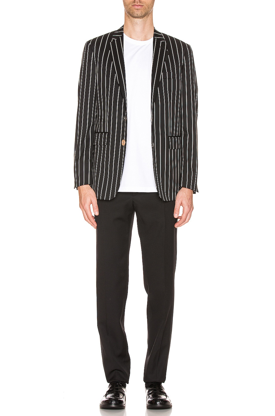 Image 5 of Burberry Slim Fit Blazer in Black