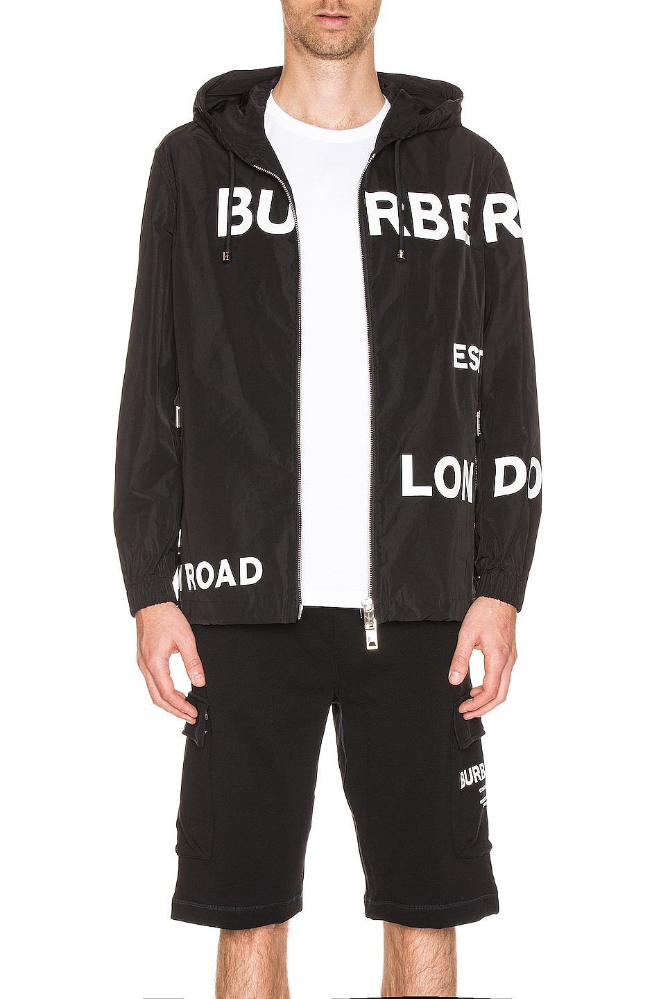 Image 1 of Burberry Everton Printed Jacket in Black