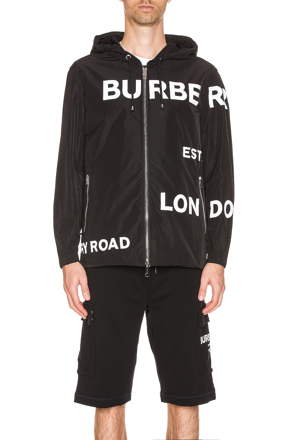 Image 2 of Burberry Everton Printed Jacket in Black
