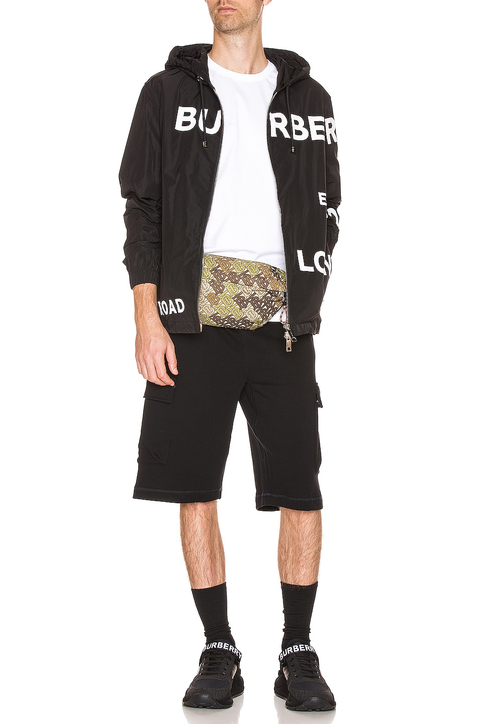 Image 6 of Burberry Everton Printed Jacket in Black