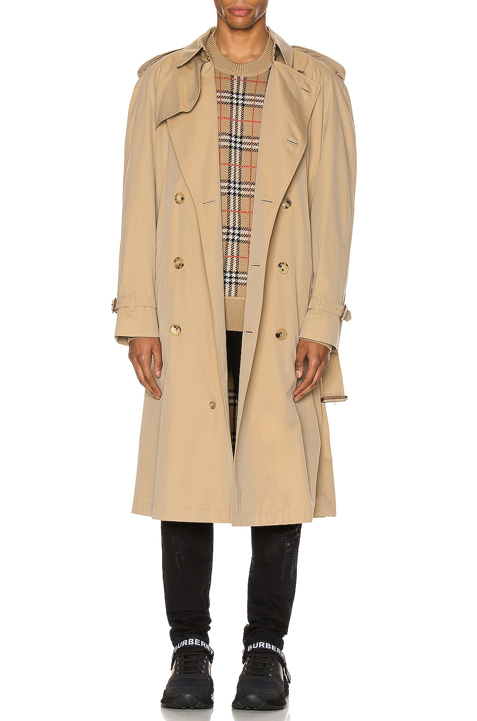 Image 1 of Burberry Heritage Refresh Raglan Trench Coat in Honey