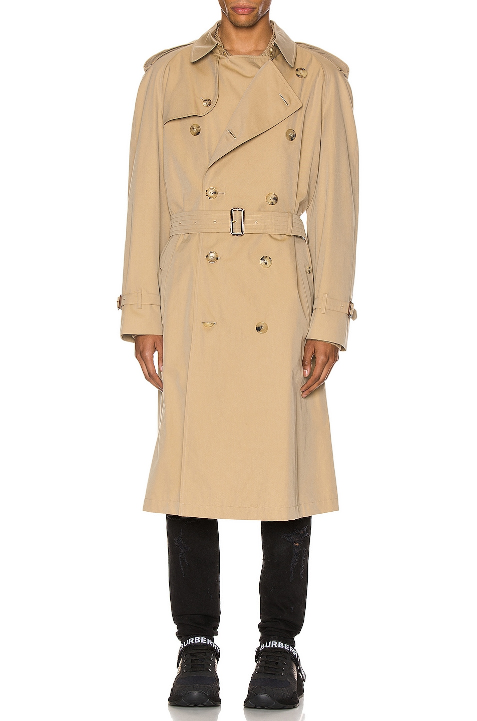 Image 2 of Burberry Heritage Refresh Raglan Trench Coat in Honey