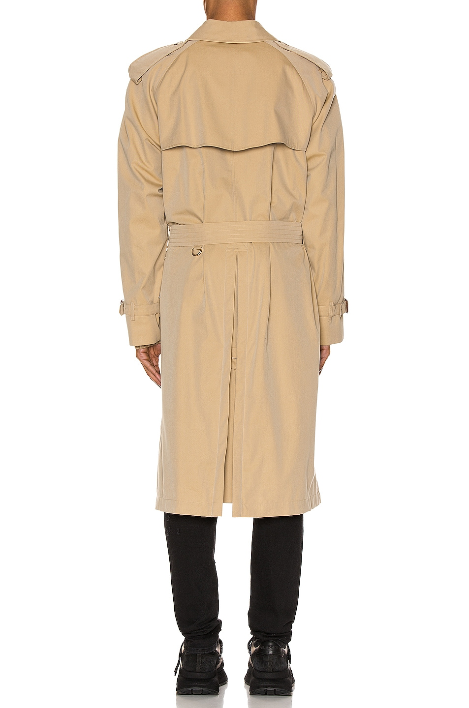 Image 4 of Burberry Heritage Refresh Raglan Trench Coat in Honey