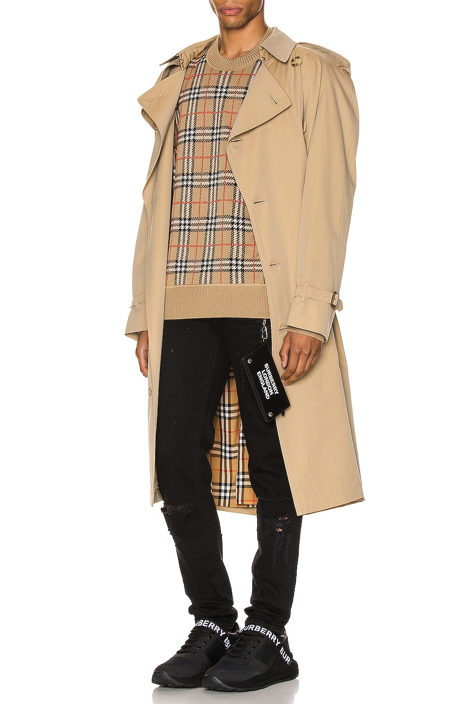 Image 5 of Burberry Heritage Refresh Raglan Trench Coat in Honey