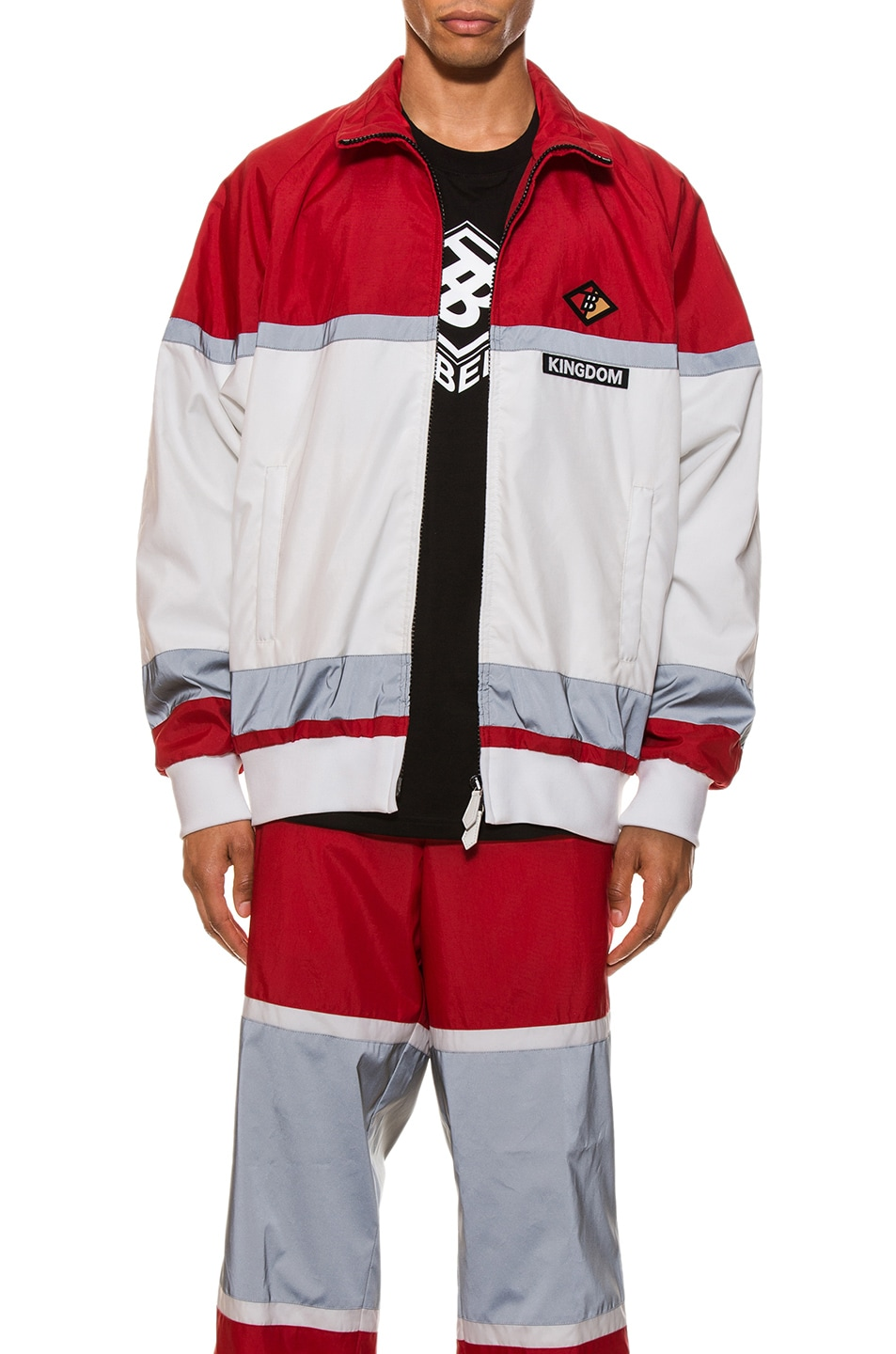 Image 1 of Burberry Tracktop in Bright Red
