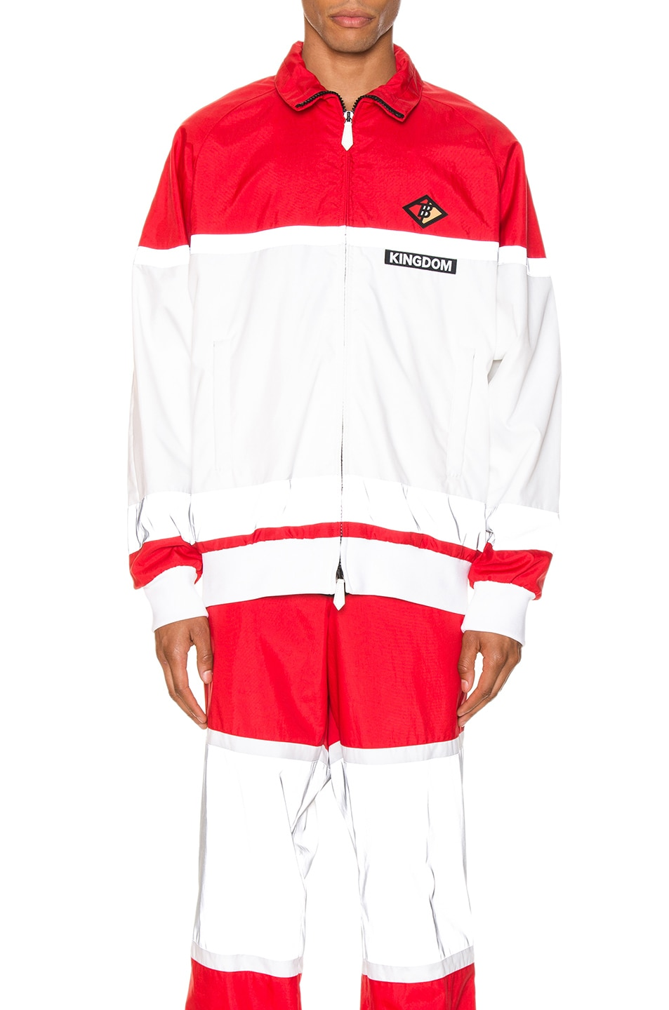 Image 2 of Burberry Tracktop in Bright Red