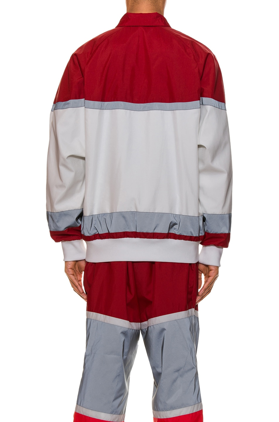 Image 4 of Burberry Tracktop in Bright Red