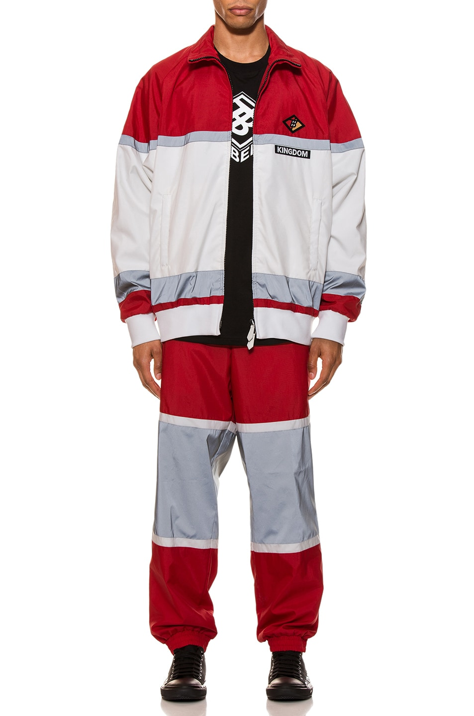 Image 5 of Burberry Tracktop in Bright Red