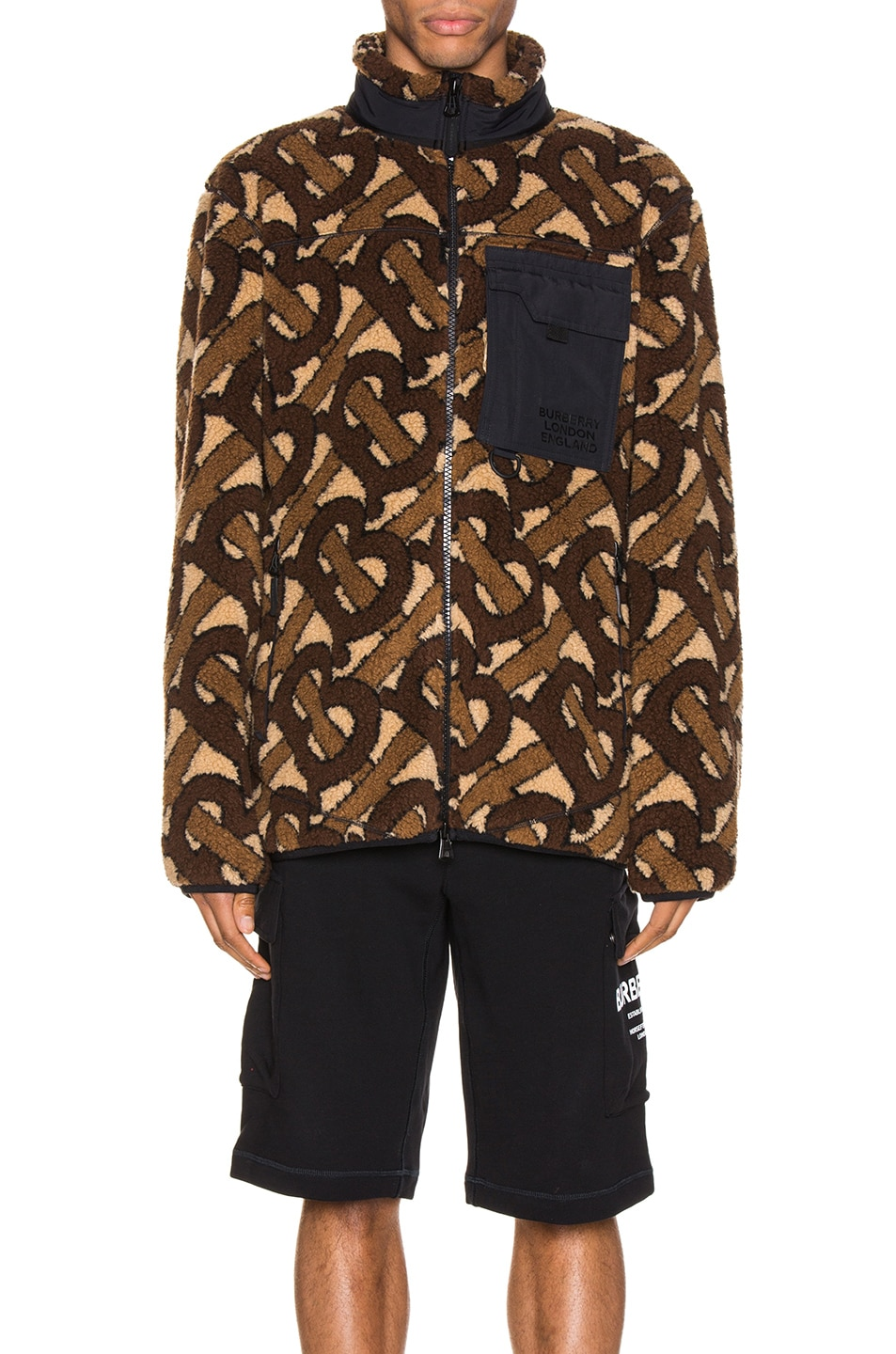 Image 2 of Burberry Track Jacket in Bridle Brown