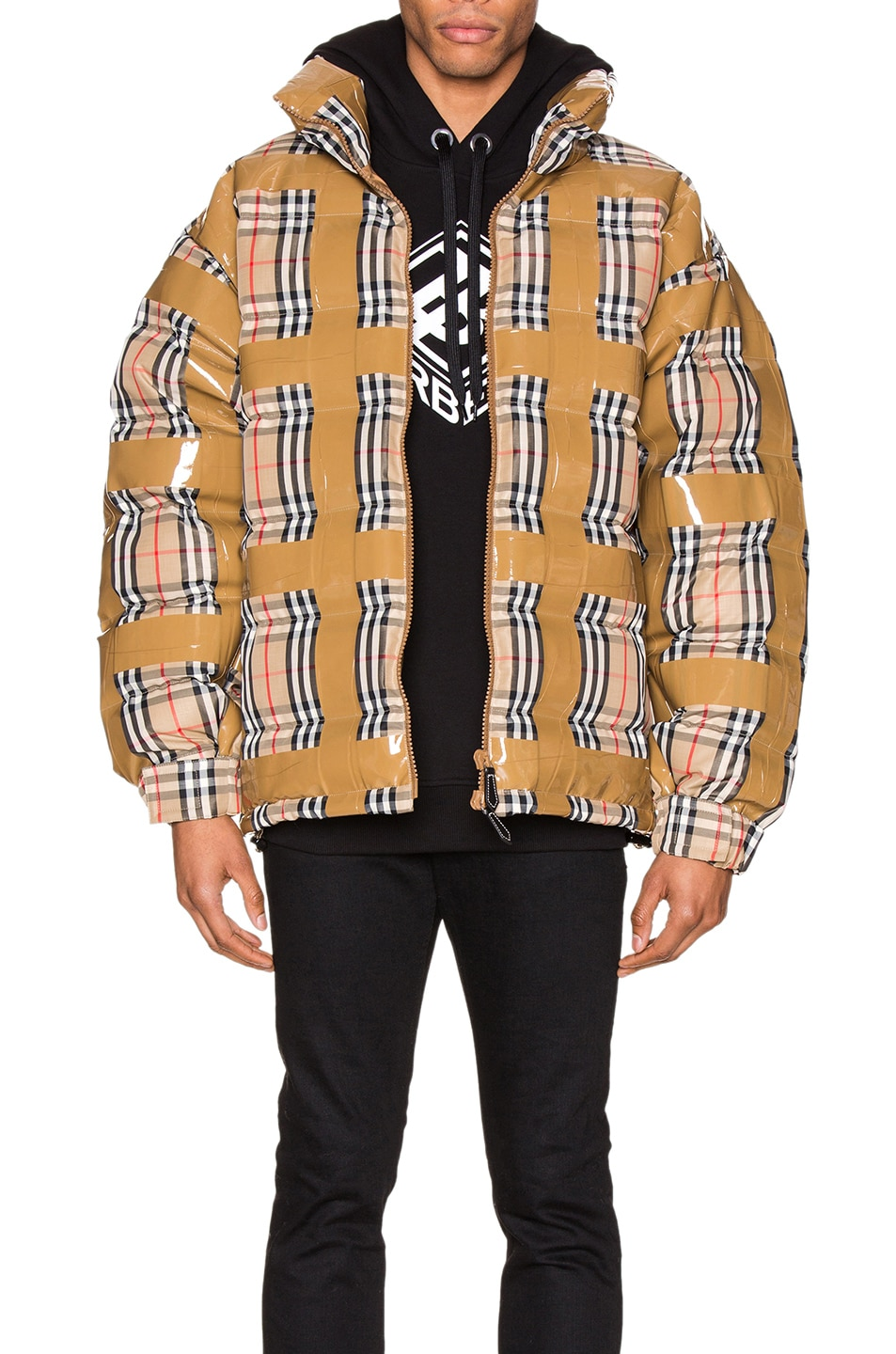 Burberry Jackets Check Down Jacket