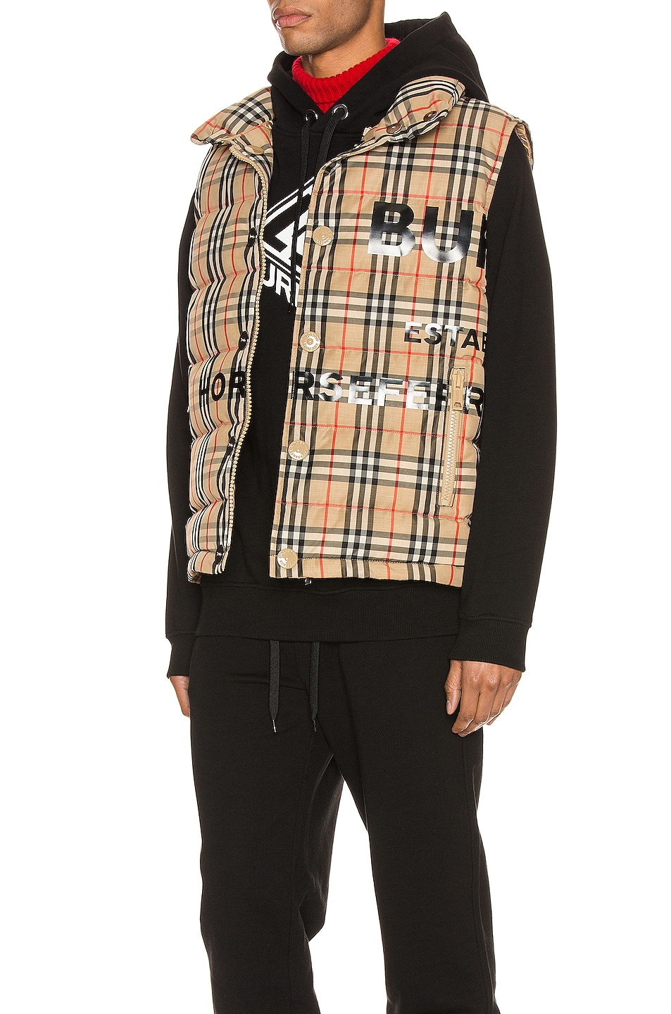 Image 4 of Burberry Midland Jacket in Archive Beige IP Check