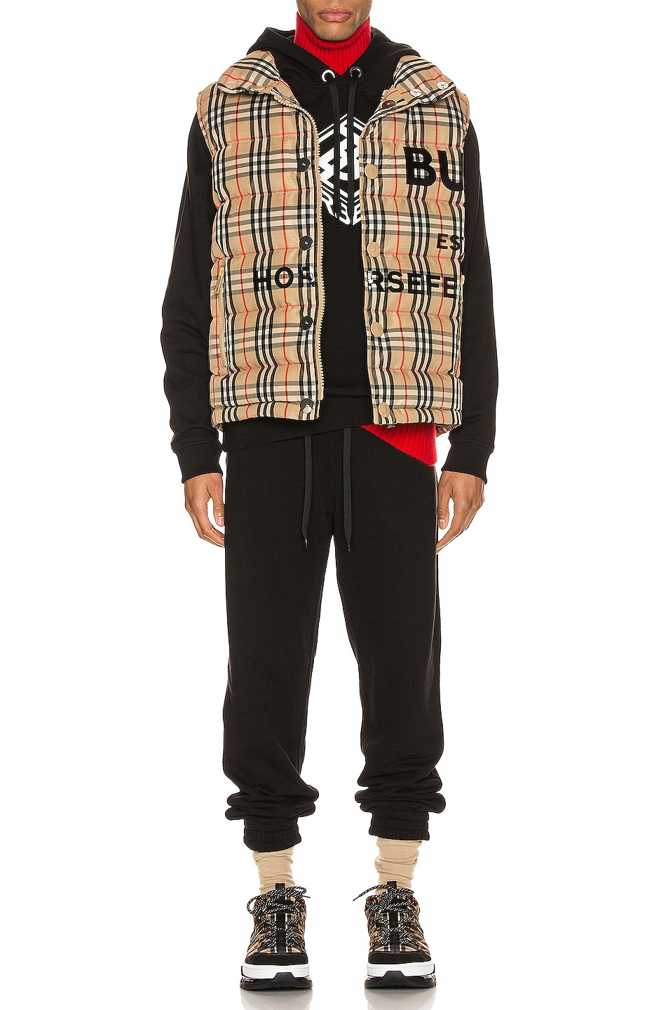 Image 6 of Burberry Midland Jacket in Archive Beige IP Check