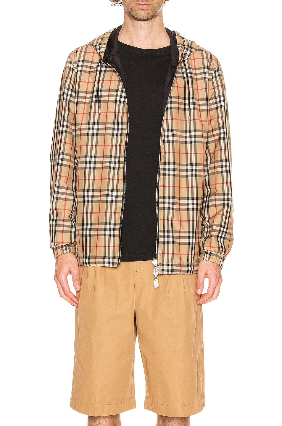 Image 1 of Burberry Stretton Reversible Jacket in Archive Beige IP Check