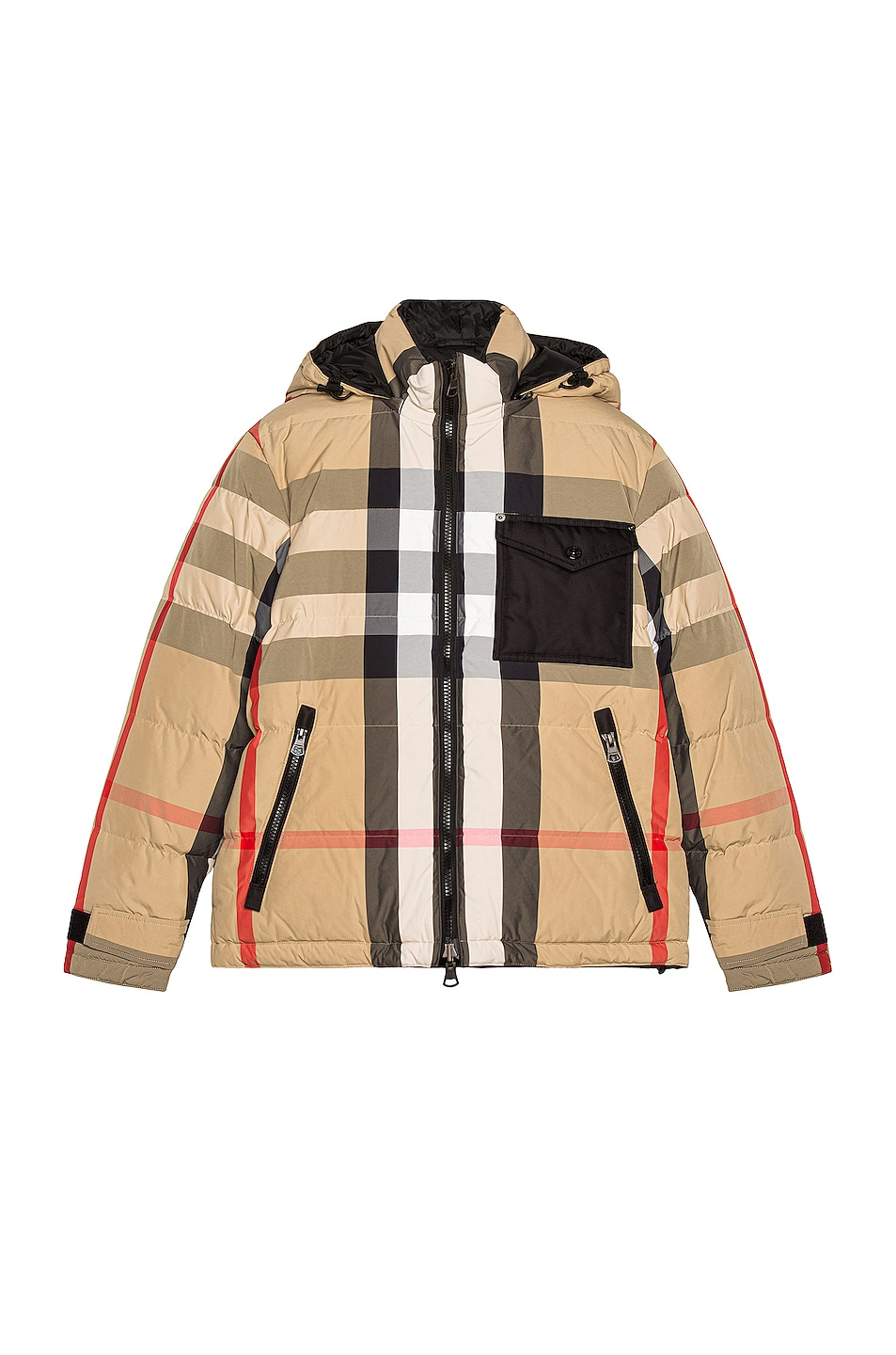 Image 1 of Burberry Rutland Down Jacket in Archive Beige & Black