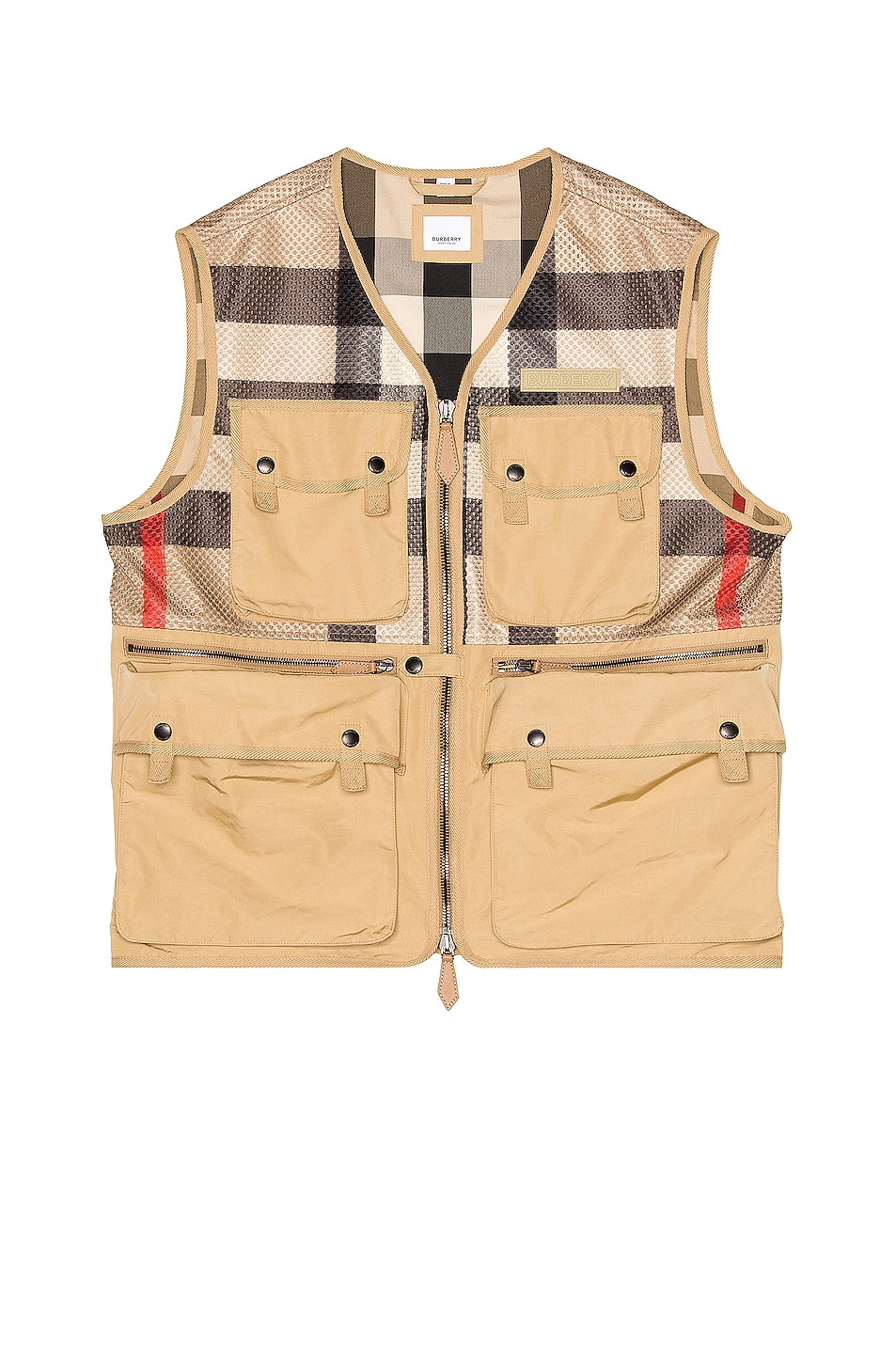 Image 1 of Burberry Finmere Vest in Archive Beige