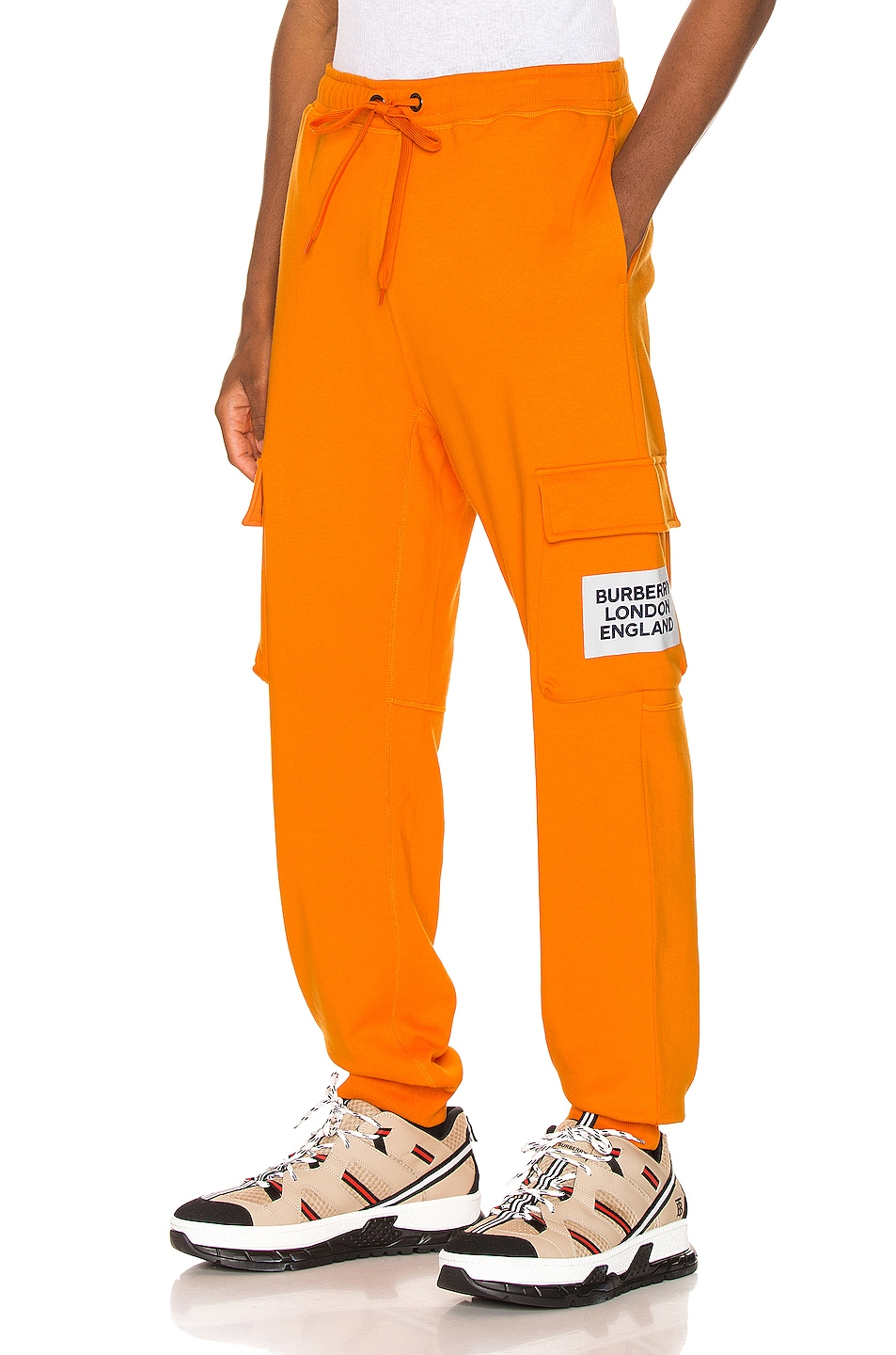 Image 1 of Burberry Foster Sweatpants in Bright Orange