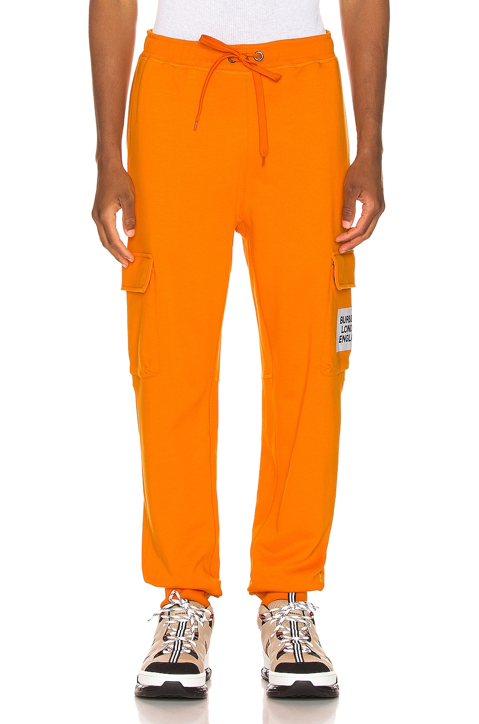 Image 2 of Burberry Foster Sweatpants in Bright Orange