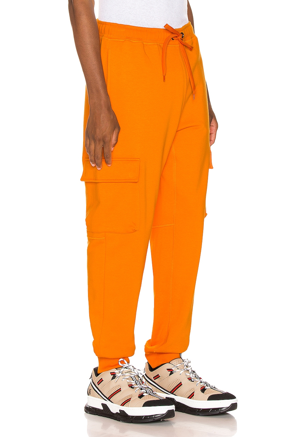 Image 3 of Burberry Foster Sweatpants in Bright Orange