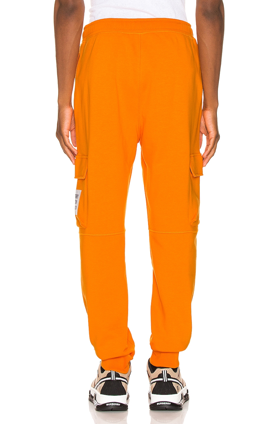 Image 4 of Burberry Foster Sweatpants in Bright Orange