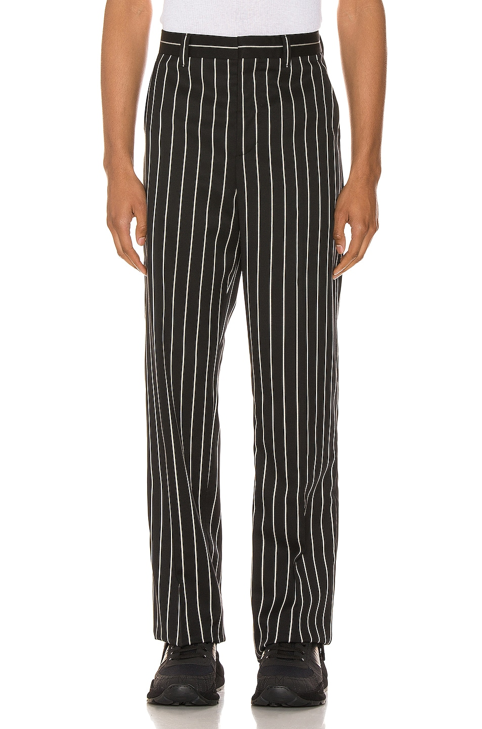 Image 1 of Burberry Wide Trouser Run in Black