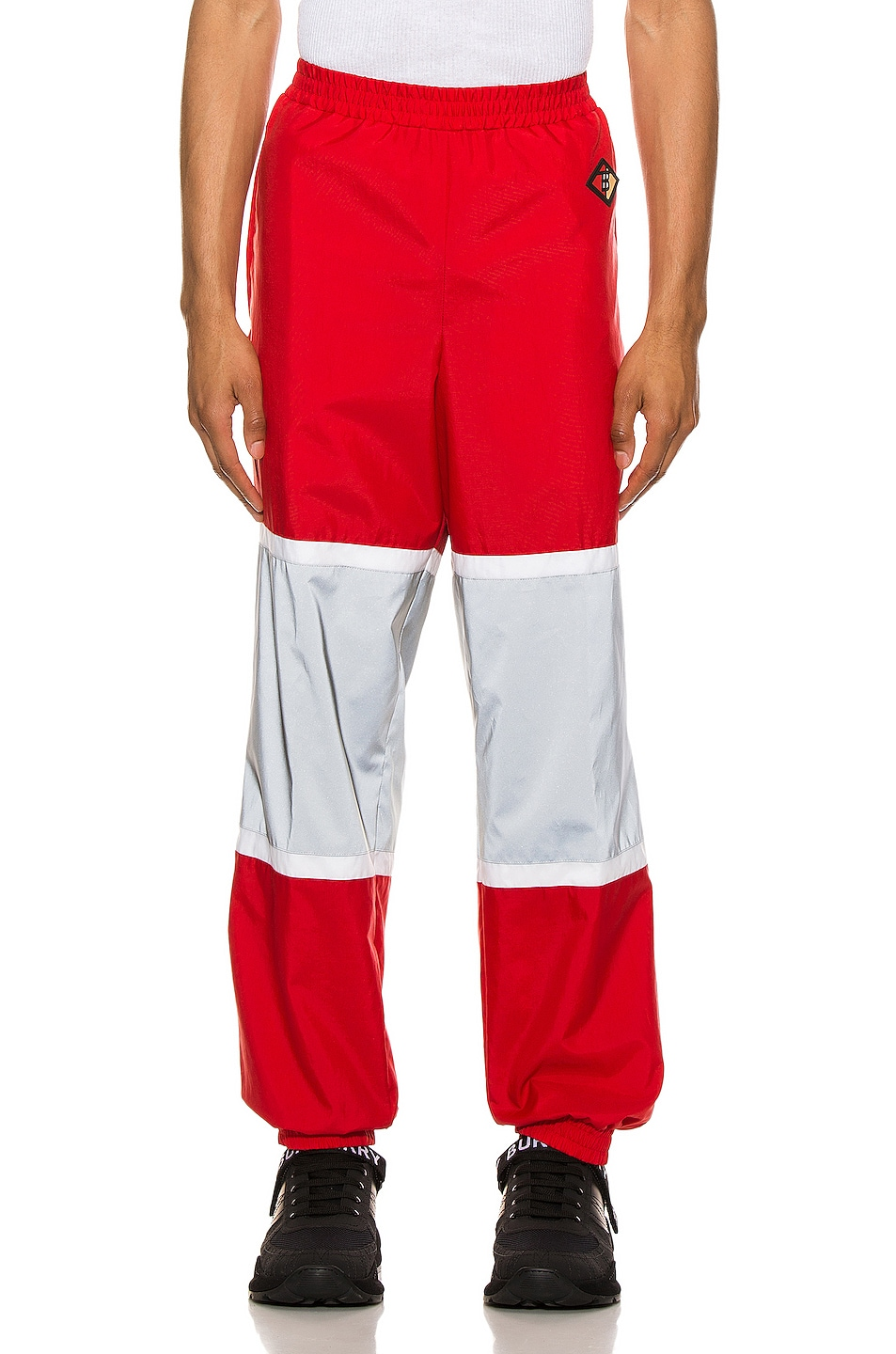 Image 1 of Burberry Trackpants in Bright Red