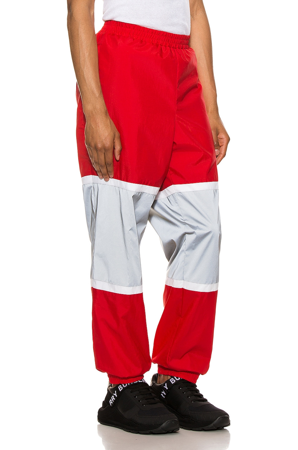 Image 3 of Burberry Trackpants in Bright Red
