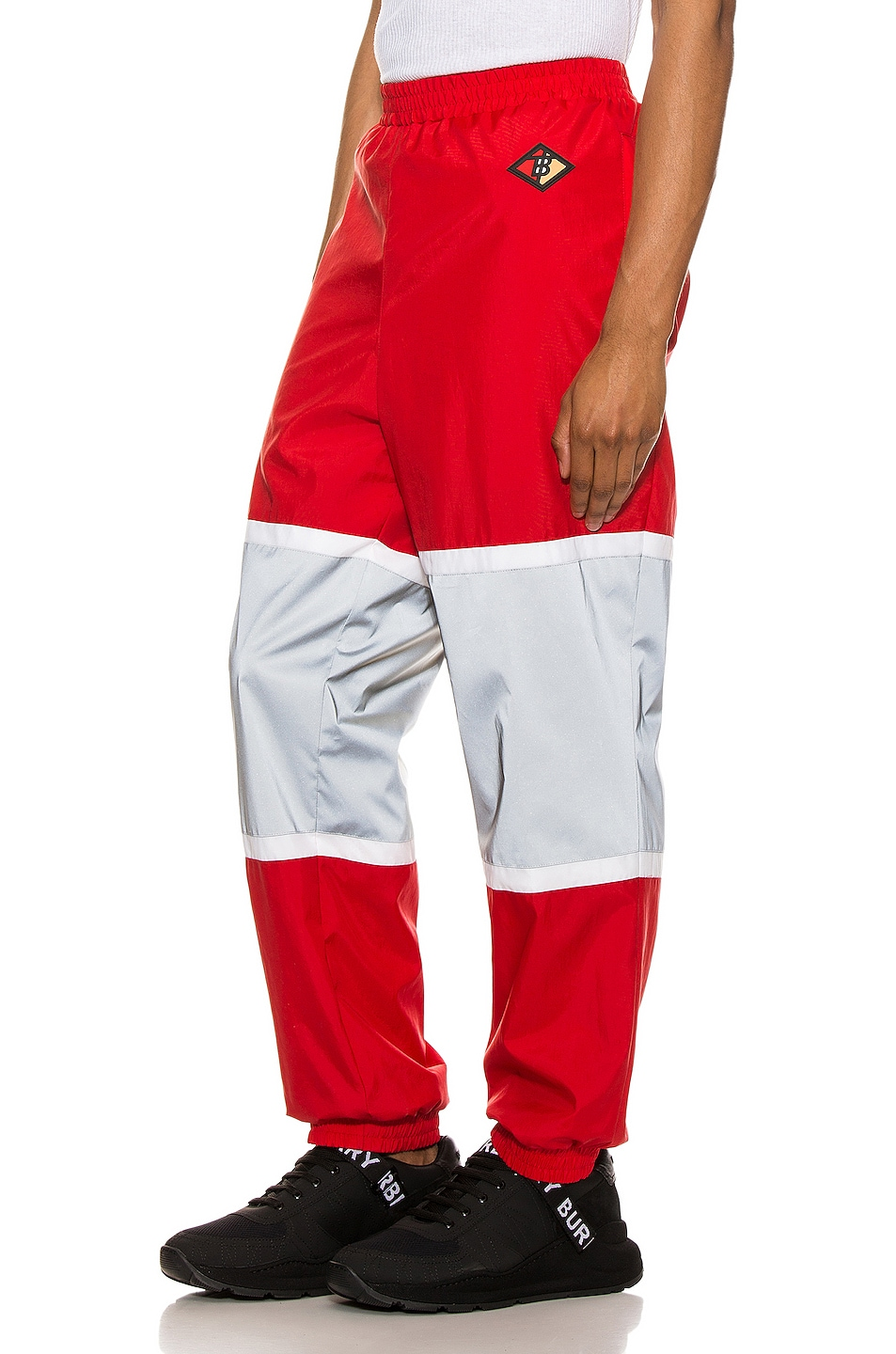 Image 4 of Burberry Trackpants in Bright Red