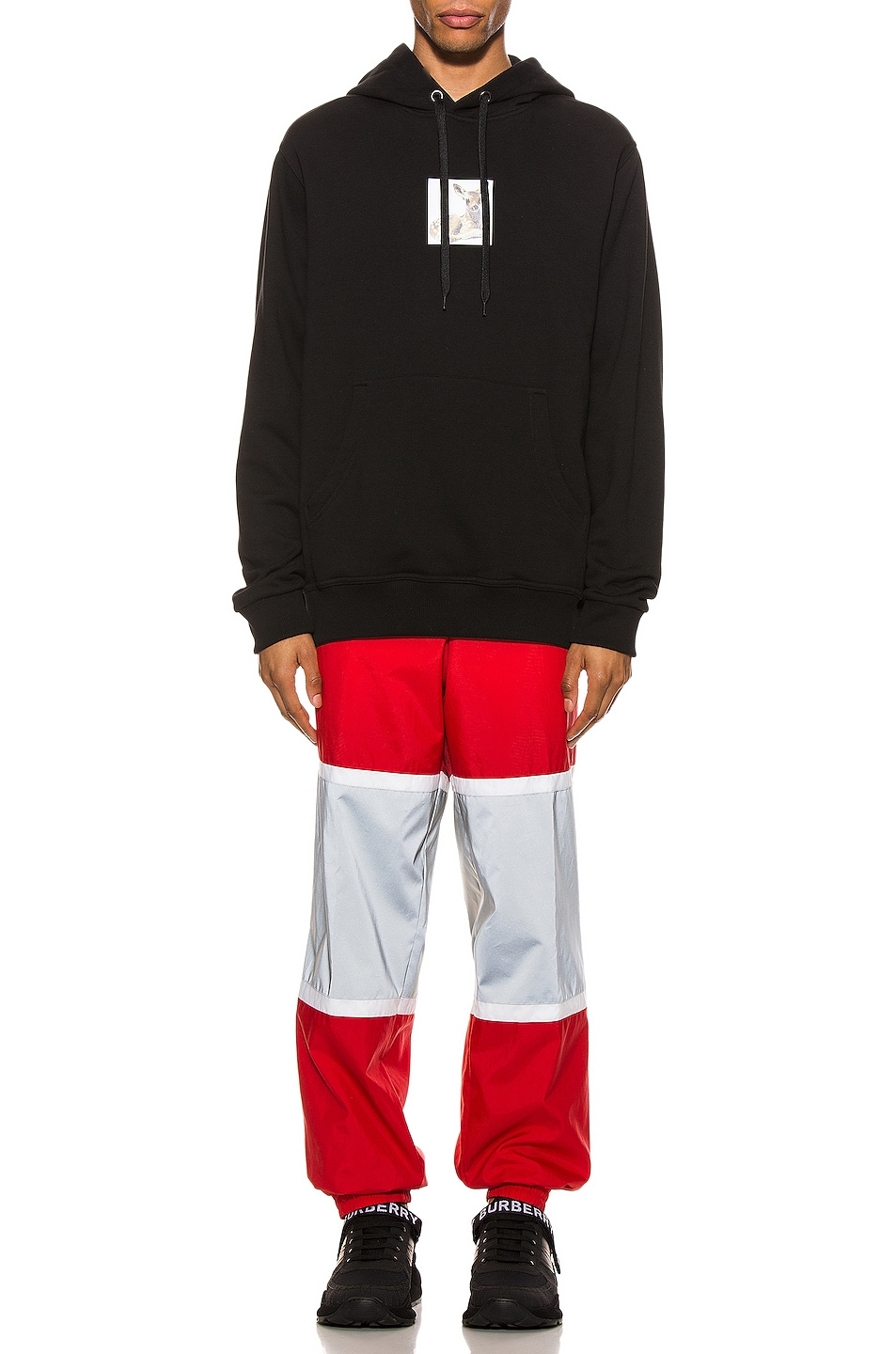 Image 6 of Burberry Trackpants in Bright Red