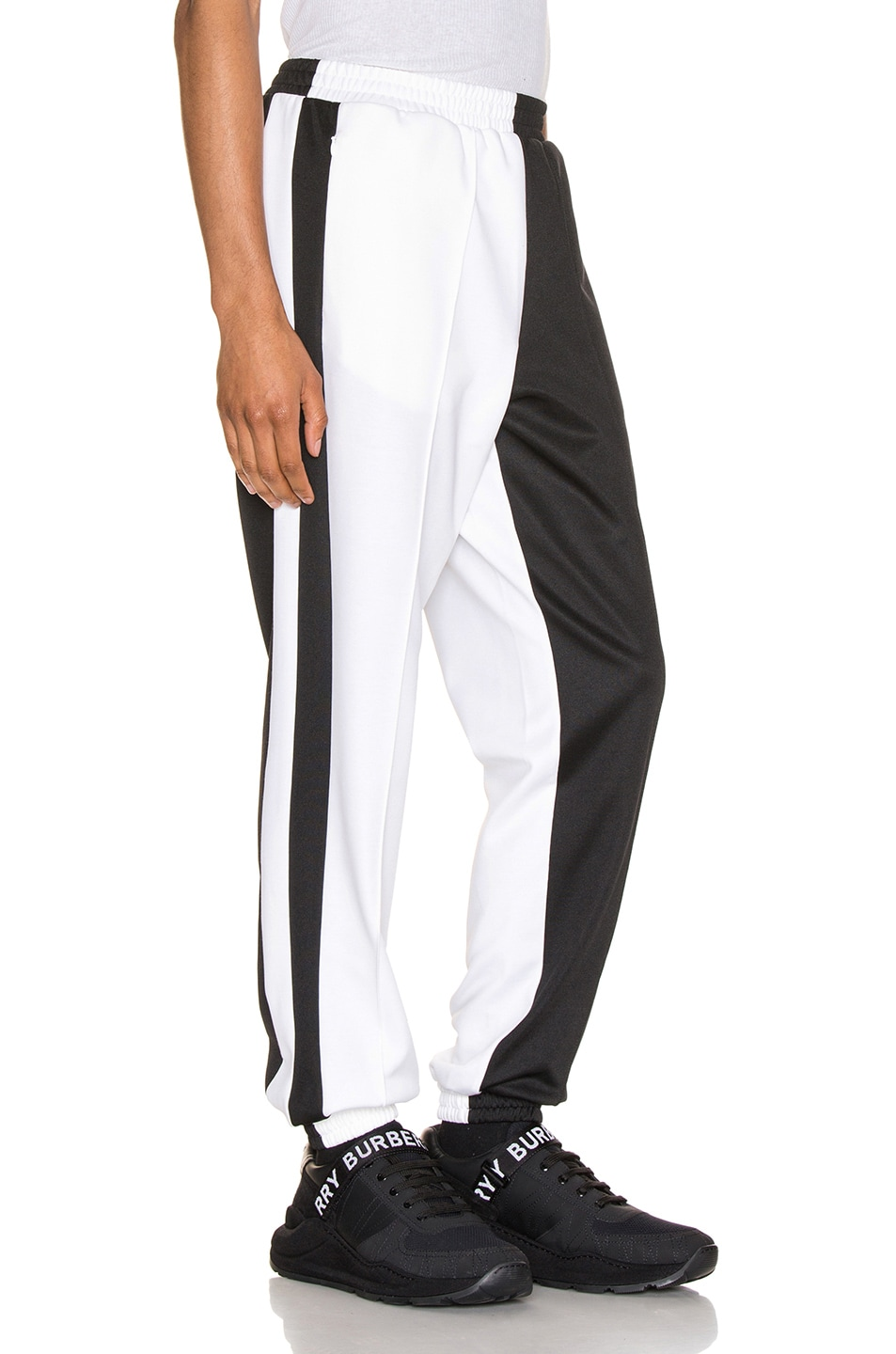 Image 2 of Burberry Logo Sweatpants in Black