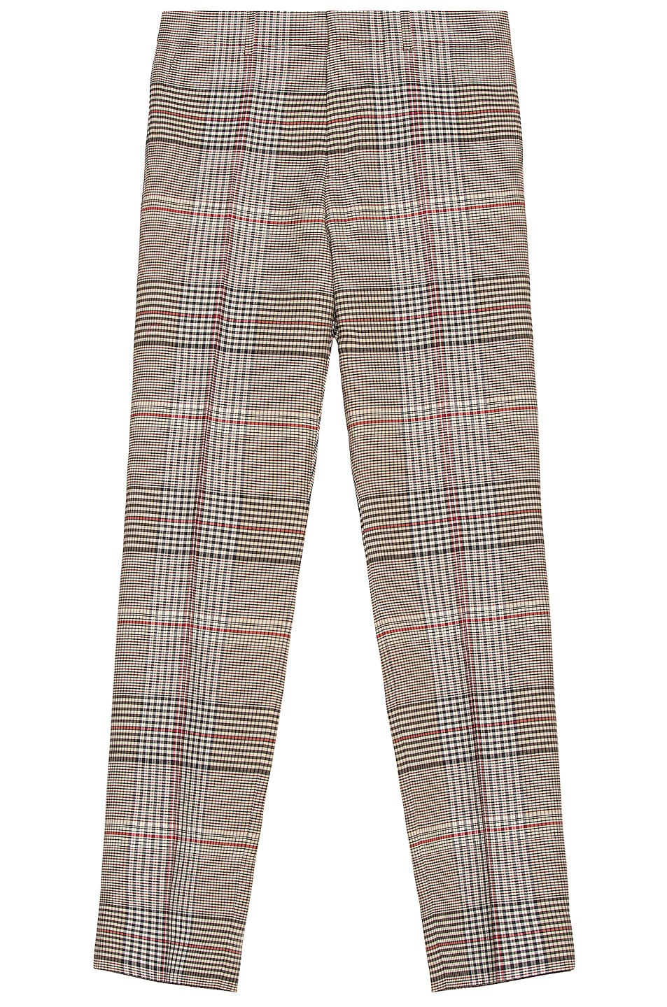 Image 1 of Burberry Wool Check Trouser in Beige